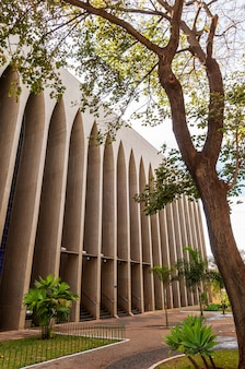 Brasília df brasil em 14 de agosto de 2008 igreja e santuário dom bosco com seus vitrais azuis