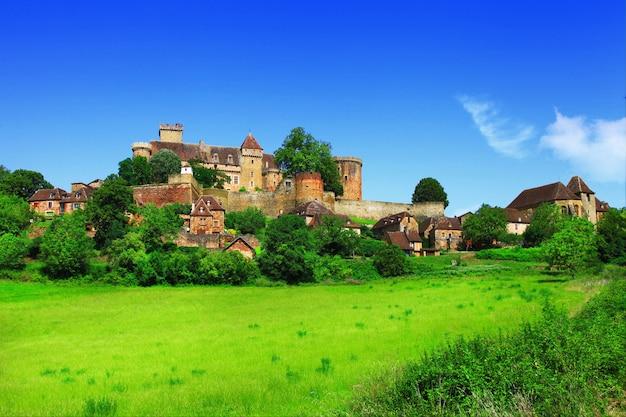 Bretenoux castelnau, castelo medieval, dordonha, frança