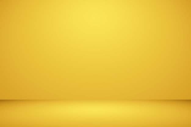 Brilhante parede amarelo estúdio borrão
