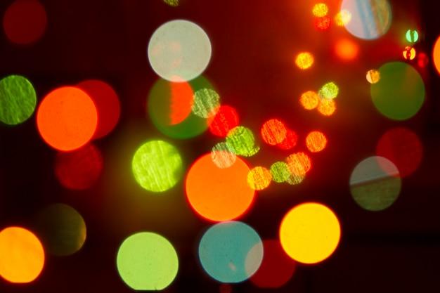 Brilho bokeh cor luzes fundo desfocado