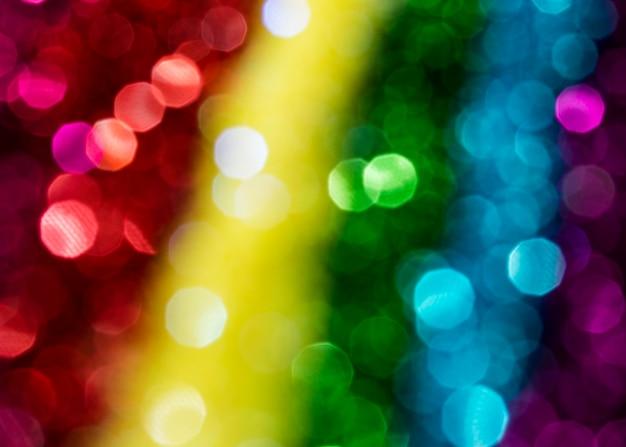 Brilho de arco-íris deslumbrante desfocado