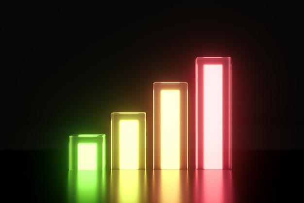 Brilho de néon de sinal de nível