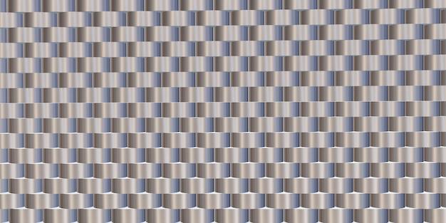 Brilho do material de fundo de aço alumínio forrado padrão ilustração 3d Foto Premium