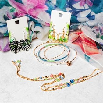 Brincos de pulseira de colar de joias accessorize