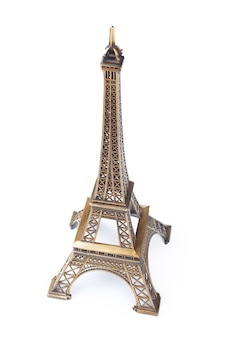 Brinquedo da torre eiffel isolado