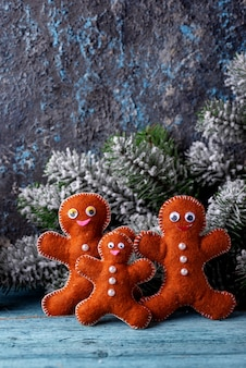 Brinquedo de abeto de natal feito de feltro