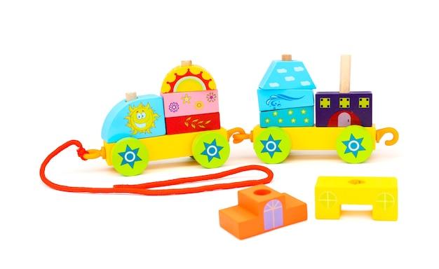 Brinquedo de criança de trem de empilhamento para crianças pequenas