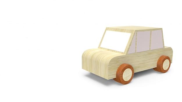 Brinquedo de madeira do carro em branco