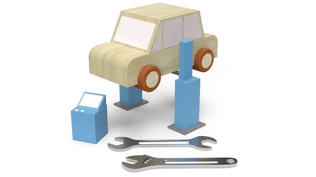 Brinquedo de madeira do carro para o serviço de carro