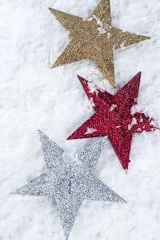Brinquedo de natal em forma de estrela