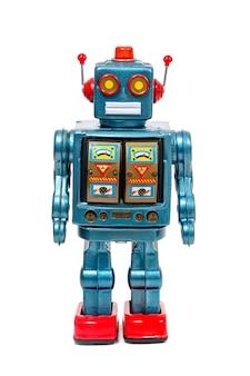 Brinquedo de robô lata vintage