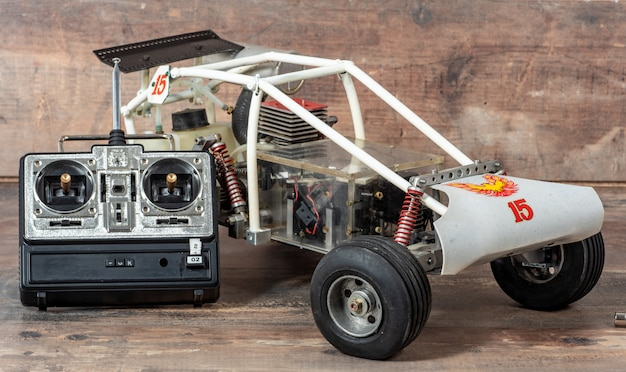 Brinquedo modelo de carro de rali rc, buggy offroad com controle remoto