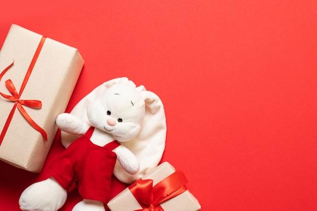 Brinquedos artesanais de coelho macia maquete e presente surpresa