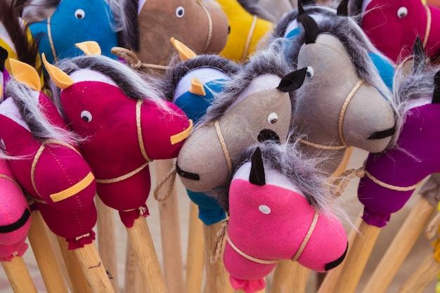 Brinquedos de cavalo artesanal