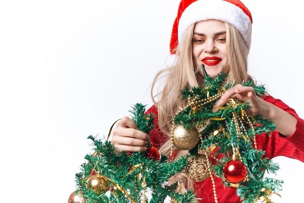 Brinquedos de decoração de natal para mulher bonita