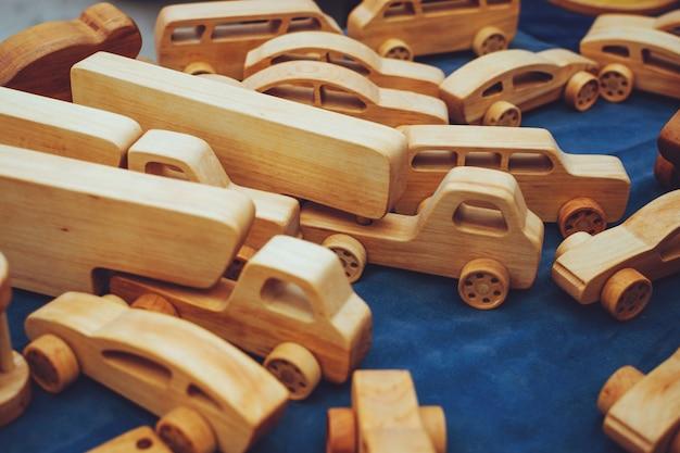 Brinquedos de madeira ecológicos criativos para bebês de madeira orgânica