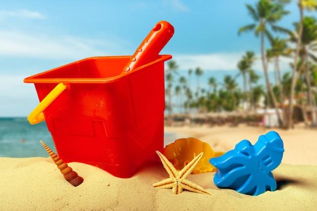 Brinquedos de plástico para praia