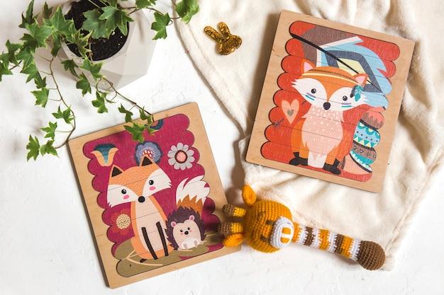 Brinquedos educativos de madeira para crianças