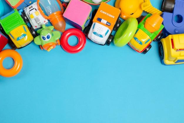 Brinquedos para crianças, vista de cima