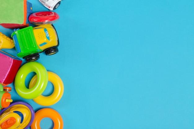Brinquedos para crianças, vista superior