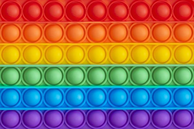 Brinquedos sensoriais anti-stress para crianças. padrão colorido