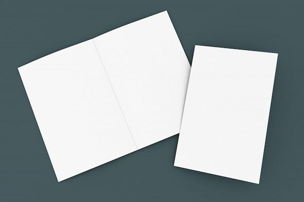 Brochura de maquete semi-fold