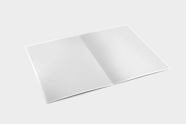 Brochura sobre um fundo branco - renderização em 3d