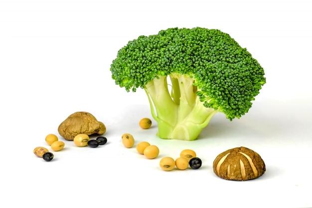 Brócolis e sementes