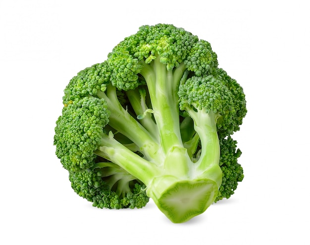 Brócolis isolado no traçado de recorte branco