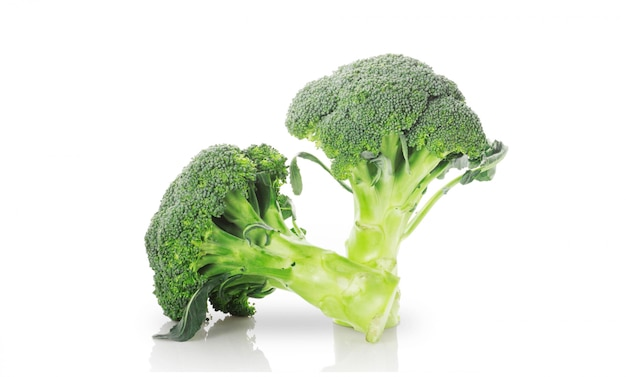 Brócolis no fundo branco