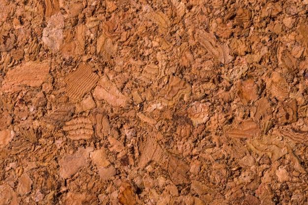 Brown, texturizado fundo de cortiça, close-up