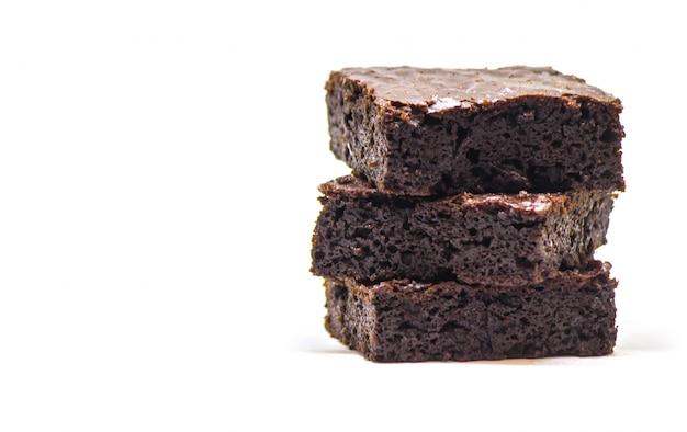 Brownie de chocolate. cozimento caseiro. foco seletivo. comida.