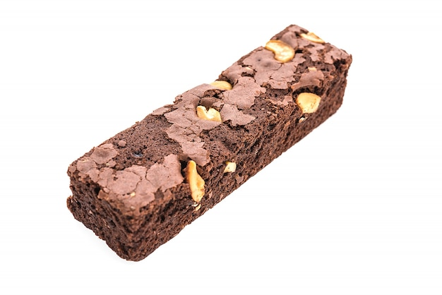 Brownie isolada no fundo branco