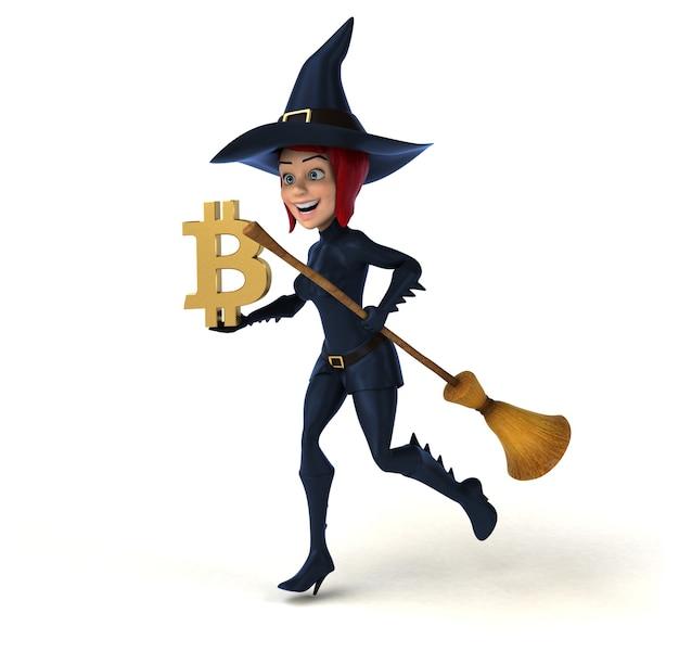 Bruxa sexy - ilustração 3d