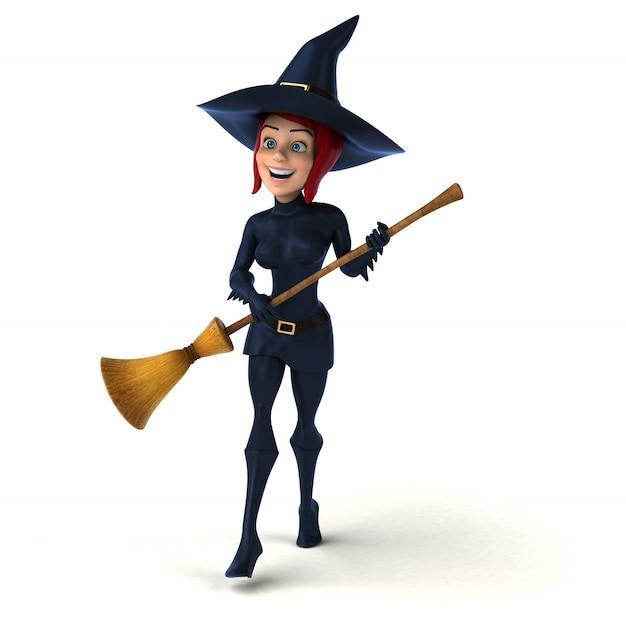 Bruxa sexy - personagem 3d