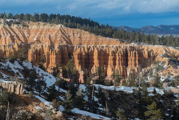 Bryce canyon durante o pôr do sol