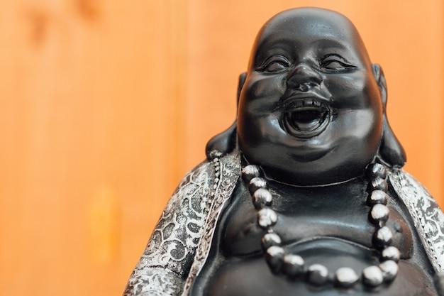 Buddha de riso gordo, macro do deus do hotei.