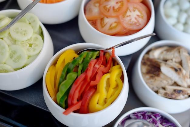 Bufê de salada