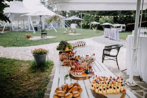 Buffet de casamentos catering para comida de eventos
