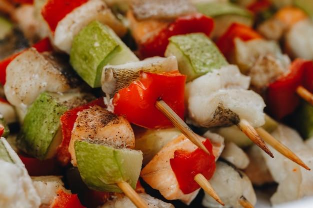 Buffet de comida no restaurante, lanche na conferência, conceito de catering