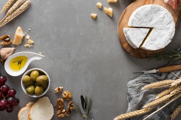 Buffet de queijo liso