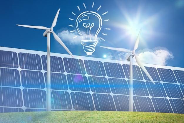 Bulbo com painéis solares