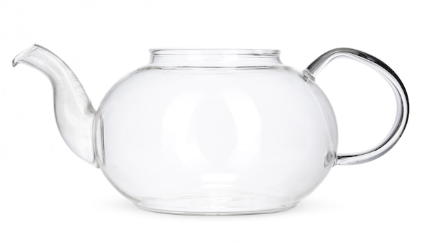 Bule de vidro isolado no fundo branco