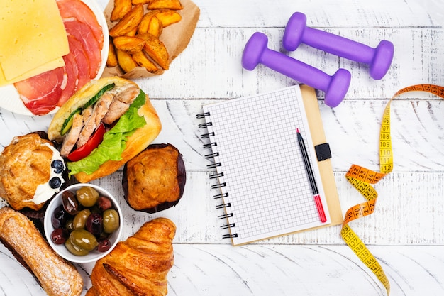 Bulimia ou conceito de distúrbio alimentar. hora da dieta