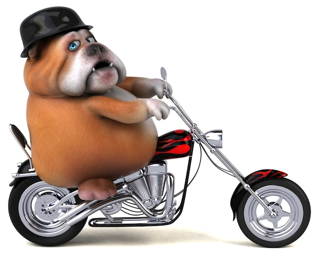 Bulldog divertido - personagem 3d