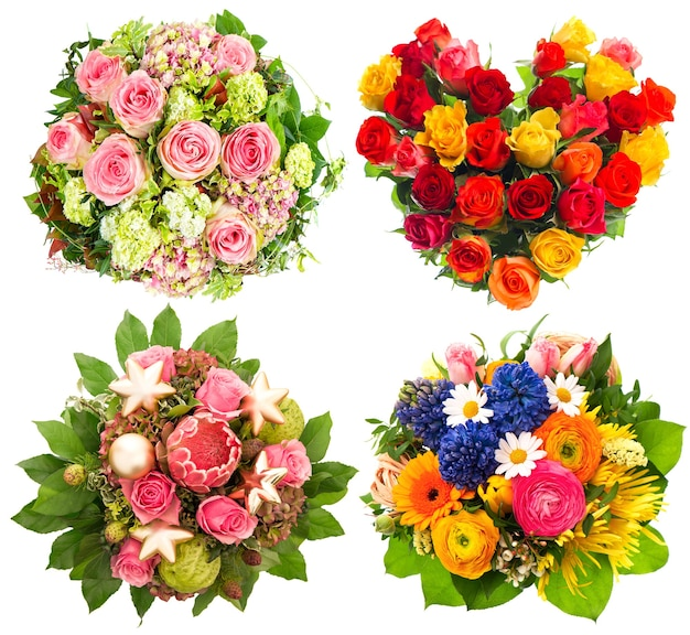 Buquê de flores coloridas para aniversário, casamento, dia das mães, dia dos namorados