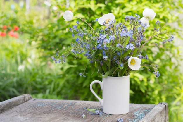 Buquê de flores da primavera