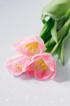 Buquê de flores de tulipa rosa