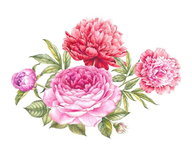 Buquê de flores rosas.