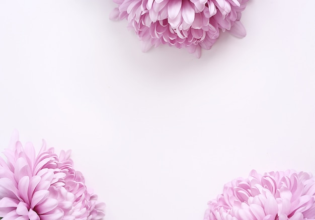 Buquê de flores sobre fundo branco